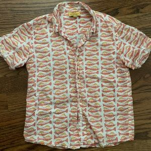 Roberta Roller Rabbit fish print kids shirt size 6
